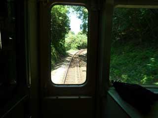 電車の中から